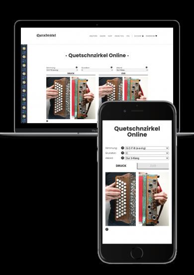 Quetschnzirkel Online Tool Screenshot